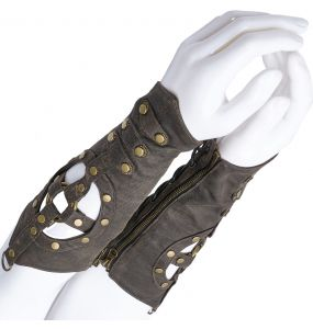 Brown Steampunk 'Buning Man' Cuffs