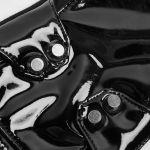 Gants pour Hommes 'Mesmerizer' en Vinyle et Résille Noirs