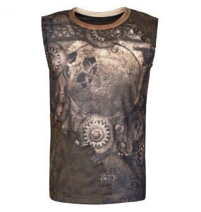Coffee 'Mechanical' Sleeveless T-Shirt
