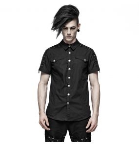 Black 'Marduk' Short Sleeves Shirt