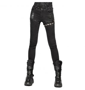 Pantalon 'Cataclysm' Noir