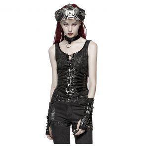 Serre-Taille Gothique 'Black Cage' Noir