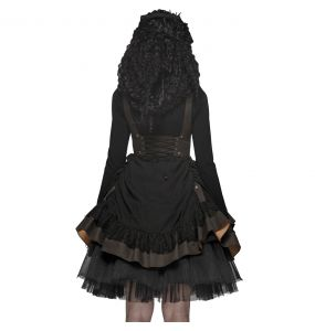 Black and Coffee 'Saturna' Steampunk Dress