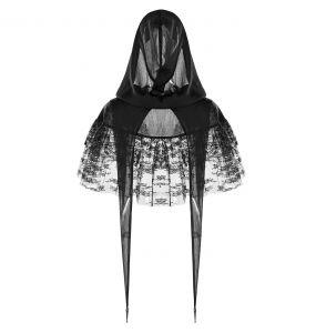Black Lace 'Sorroria' Gothic Lolita Style Cape