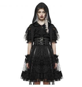Cape Gothic Lolita 'Sorroria' en Dentelle Noire