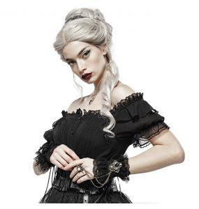 Black Lace 'Adelaide' Steampunk Gloves