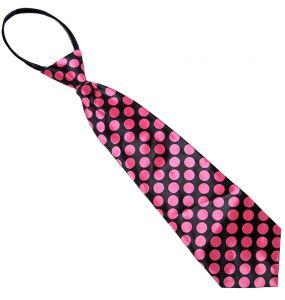 Pink Dots Satin Tie