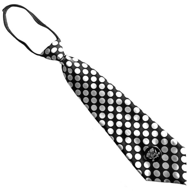 Cravate Satinée 'White Dots'