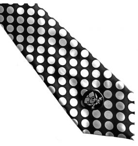 White Dots Satin Tie