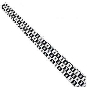Black and White Chequered 'Catbones' Satin Tie