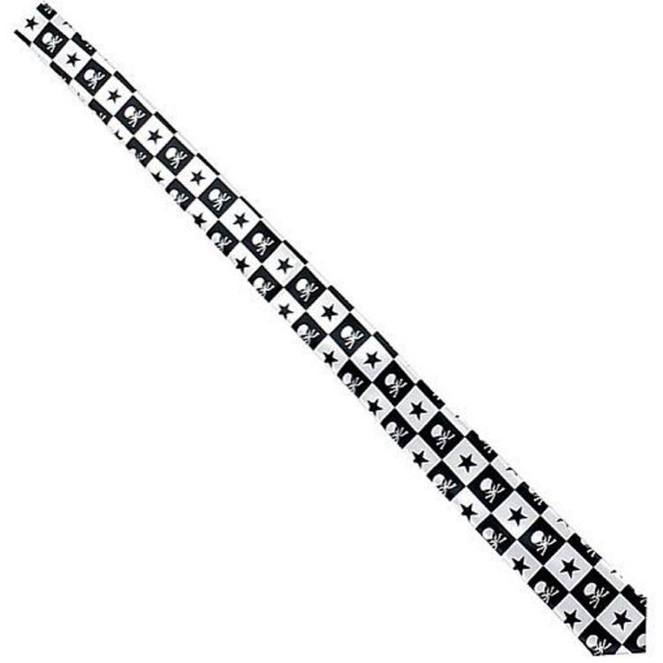 Black and White Chequered 'Skulls' Slim Satin Tie