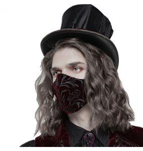 Burgundy Velvet 'Hamlet' Face Mask