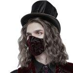 Masque 'Hamlet' en Velours Bordeaux