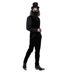 Masque 'Hamlet' en Velours Noir