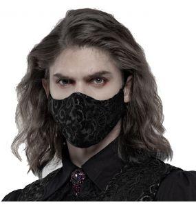 Black and Silver Jacquard 'Alchemist' Face Mask
