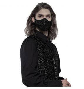 Black and Silver Jacquard 'Alchemist' Face Mask