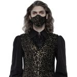 Black and Gold Jacquard 'Alchemist' Face Mask