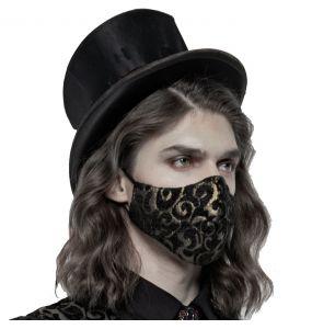 Black and Gold Jacquard 'Alchemist' Face Mask