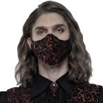 Black and Red Jacquard 'Alchemist' Face Mask