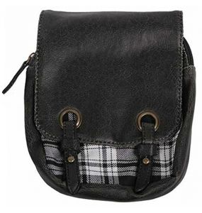 'White and Black Plaid' Kilt Bag
