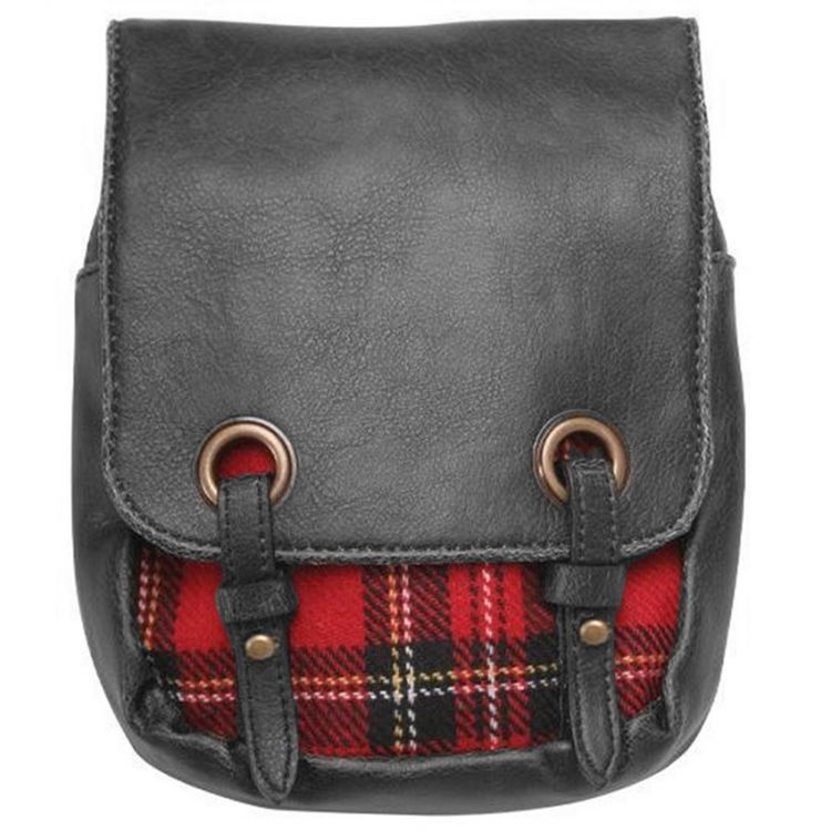 'Red Plaid' Kilt Bag