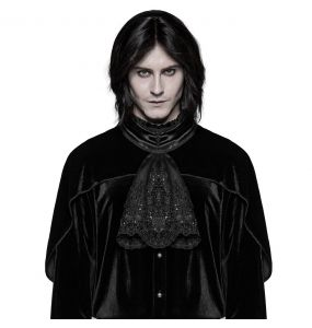 Black 'Romantic Goth' Jabot