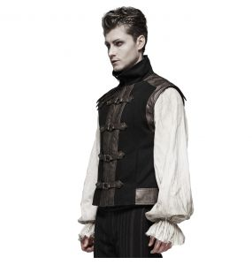 Brown and Black 'Orion' Steampunk Waistcoat