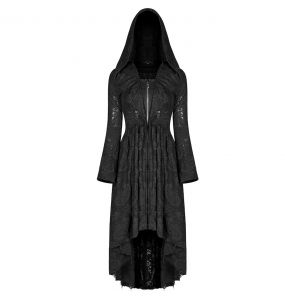 Black 'Vampyria' Assymetric Coat-Dress