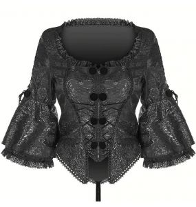 Black Jacquard 'Baroque Flower' Jacket