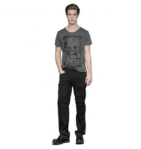 Pantalon 'Used Look' Noir