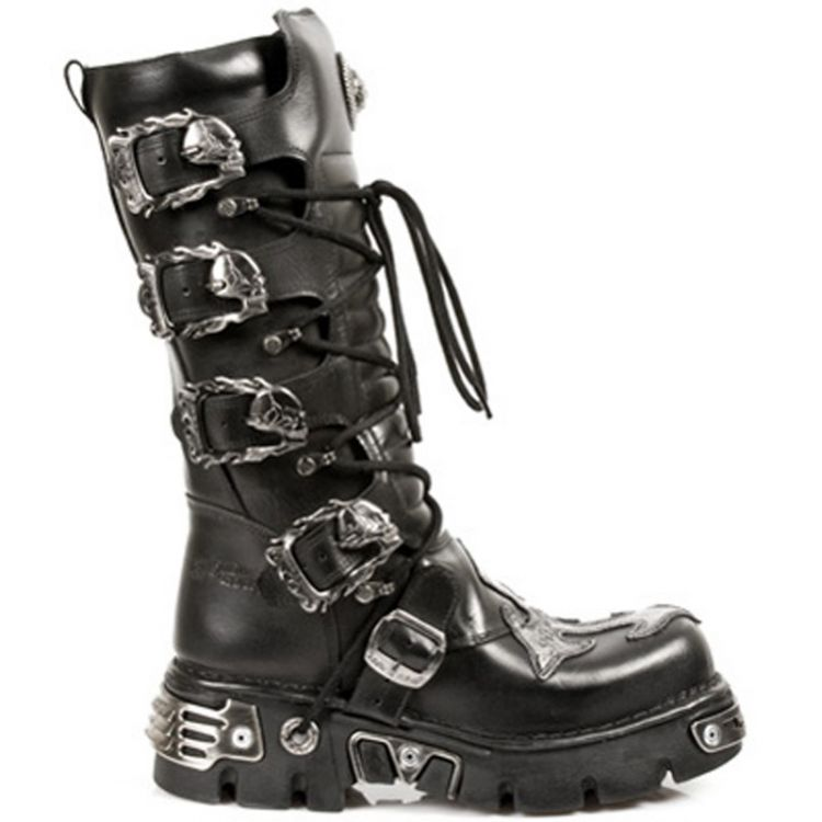 Black Antic and Nomada Leather New Rock Metallic High Boots
