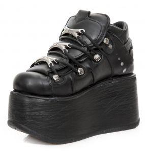 Chaussures Plateformes New Rock Metallic Marte Noires