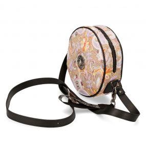 Round Synthetic Floral Shoulder Bag