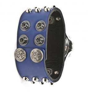 Blue Leather Bracelet New Rock Watch