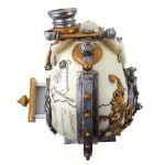 Resine 'Erasmus Darwin's Steam-Cerebrum' Skull