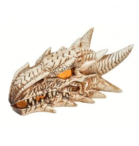 Ornement de Bureau Lumineux Crâne de Dragon