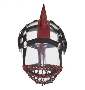 Red 'Dark Horse Mask' with Mohawk Harness Headband