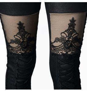 Black 'Macbeth' Warm Leggings