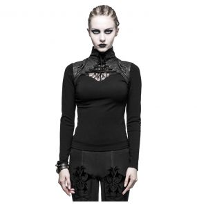 Black 'Cassiopeia' Long Sleeves Top