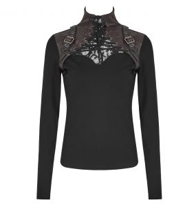Brown 'Cassiopeia' Long Sleeves Top