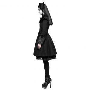 Black Gothic Lolita 'Black Fox' Coat