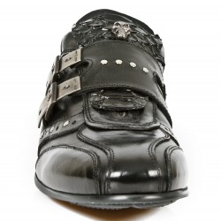 Black Nomada Itali and Python Leather New Rock Snob Shoes
