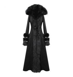 Manteau à Capuche 'Black Frozen' Noir