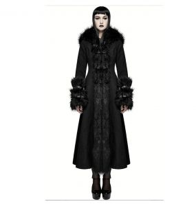 Black 'Frozen' Hooded Winter Coat