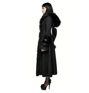 Black 'Frozen' Hooded Winter Coat
