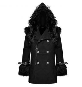 Black 'Soldier' Hooded Winter Jacket
