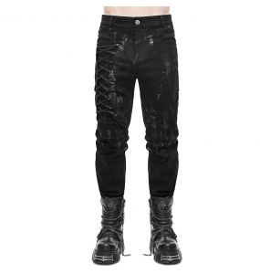 Black Denim 'Wasteland' Pants