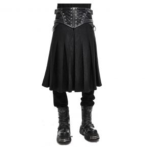 Black 'Altaïr' Skirt Kilt