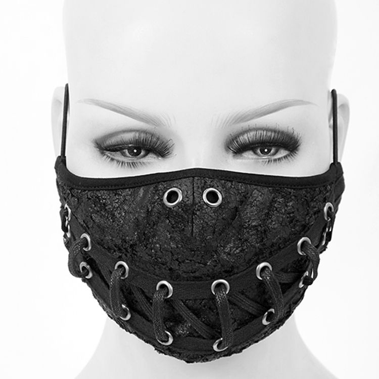 Black 'Laced' Face Mask