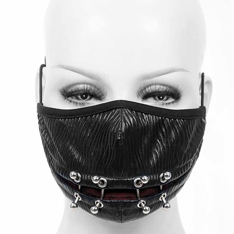 Black and Red 'Piercings' Face Mask